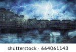 florence   firenze apocalyptic...   Shutterstock . vector #664061143