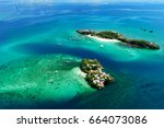 aerial view of beautiful bay in ... | Shutterstock . vector #664073086