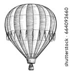 hot air balloon illustration ... | Shutterstock .eps vector #664093660