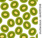 vector illustration of kiwi...   Shutterstock .eps vector #664099348