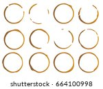 coffee stain  isolated on white ...   Shutterstock .eps vector #664100998