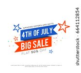 4th of july usa independence... | Shutterstock .eps vector #664112854