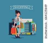 creative vector concept design... | Shutterstock .eps vector #664125649