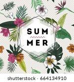 summer illustration | Shutterstock .eps vector #664134910
