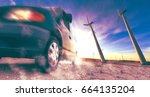 wind mills and tire car detail... | Shutterstock . vector #664135204