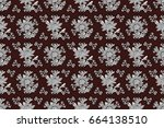 tribal ethnic ornate decoration ... | Shutterstock . vector #664138510