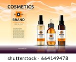 body care cosmetic set serum ... | Shutterstock .eps vector #664149478