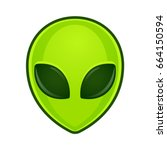 green alien face emoji.... | Shutterstock .eps vector #664150594