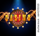casino banner in the form of... | Shutterstock .eps vector #664155310