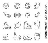 sport equipment  thin... | Shutterstock .eps vector #664156354