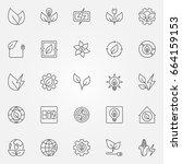 bioenergy icons set   vector...   Shutterstock .eps vector #664159153