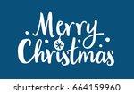 merry christmas lettering label ... | Shutterstock .eps vector #664159960