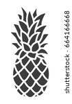 pineapple icon. trendy tropical ... | Shutterstock .eps vector #664166668