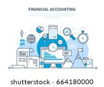 financial accounting  analysis  ... | Shutterstock .eps vector #664180000