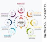 abstract digital business... | Shutterstock .eps vector #664182544