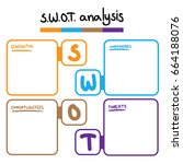 swot analysis table template... | Shutterstock .eps vector #664188076