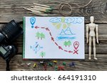 preparing for the adventure.... | Shutterstock . vector #664191310