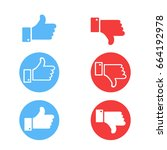 like and dislike icons set....