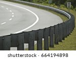 iron roadblocks at the corner... | Shutterstock . vector #664194898