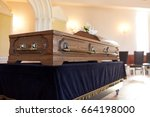 funeral and mourning concept  ...   Shutterstock . vector #664198000