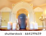 funeral  cremation and mourning ... | Shutterstock . vector #664199659