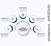 business timeline infographics... | Shutterstock .eps vector #664207630