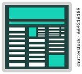 flat page layout.
