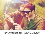 travel  hiking  technology ... | Shutterstock . vector #664225204