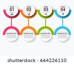 modern infographic target...   Shutterstock .eps vector #664226110