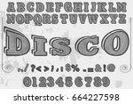 font handwritten vector...   Shutterstock .eps vector #664227598