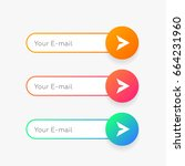 subscribe input vector form.... | Shutterstock .eps vector #664231960