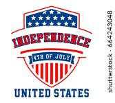 graphic independence united... | Shutterstock .eps vector #664243048