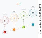 infographics template four... | Shutterstock .eps vector #664246174