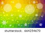 light multicolor christmas... | Shutterstock .eps vector #664254670