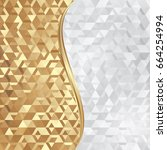 golden and white abstract... | Shutterstock .eps vector #664254994