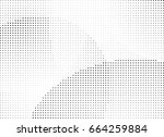 abstract halftone dotted... | Shutterstock .eps vector #664259884