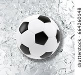 sport illustration with soccer... | Shutterstock . vector #664260148