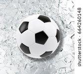sport illustration with soccer... | Shutterstock . vector #664260148