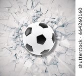 sport illustration with soccer... | Shutterstock . vector #664260160