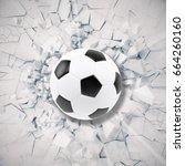 sport illustration with soccer... | Shutterstock . vector #664260160