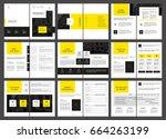 design proposal  vector... | Shutterstock .eps vector #664263199