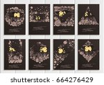 stock set collection vector... | Shutterstock .eps vector #664276429