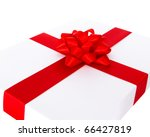 ribbon and bow on the white box | Shutterstock . vector #66427819