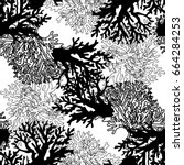 Corals Abstract Black And White ...