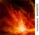 red polygonal mosaic background ... | Shutterstock .eps vector #664286050