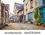 panoramic view of a charming... | Shutterstock . vector #664292644