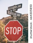 los angeles avenue and ralston... | Shutterstock . vector #664305850