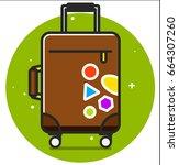 travel bag icon | Shutterstock .eps vector #664307260