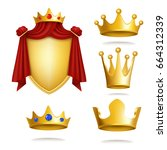 set of vector icons of royal...   Shutterstock .eps vector #664312339