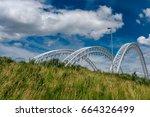 bridge over rideau river has...   Shutterstock . vector #664326499